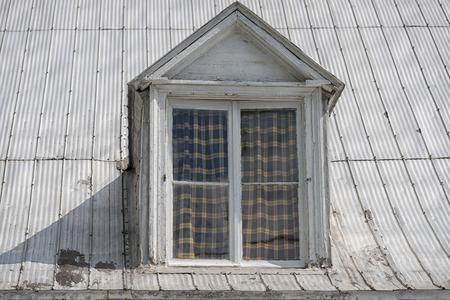 dormer: old american house dormer skylight Stock Photo