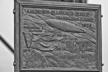alesund: Ny Alesund Transpolar Flight 1926 memorial plaque Editorial