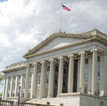 treasury department building in washington DC photo
