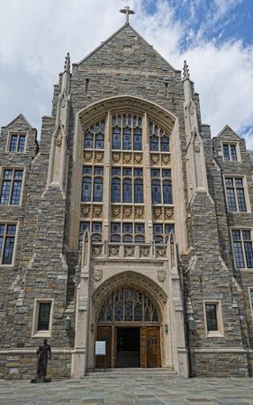 Georgetown University ancient building in Washington DC