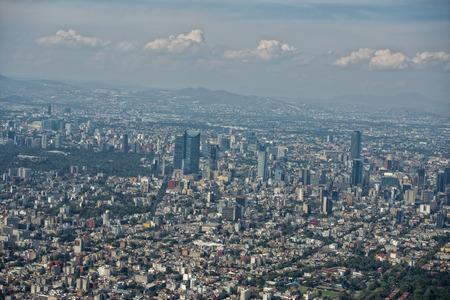 비행기에서 멕시코 시티 공중보기 풍경 스톡 콘텐츠