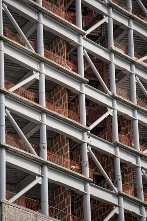 detailed view: Building in construction detailed view Stock Photo