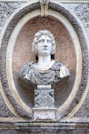bas relief: roman emperor bas relief detail
