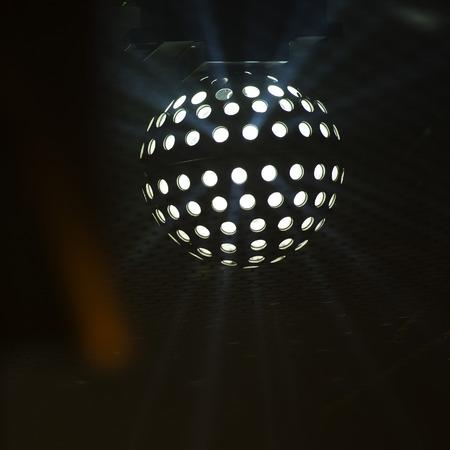 Fun Fair Carnival Luna Park moving lights on night background photo