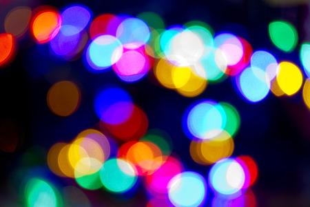 blur lights christmas background on black photo