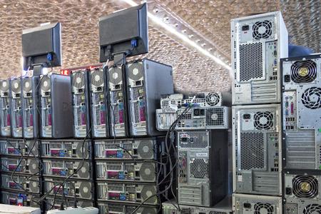 alten PCs PC Wand Standard-Bild