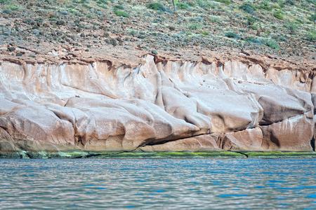 baja california: baja california beach crystal water white tropical paradise panorama