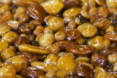 brittle: almond brittle close up detail Stock Photo