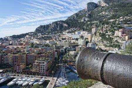 montecarlo: montecarlo monaco panorama landscape city view with cannon Stock Photo