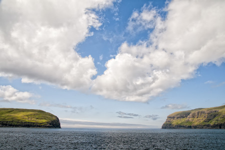 danmark: Faer Oer Danmark Vestmanna Cliffs Panorama