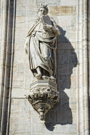 Milan Dome gothic Cathedral statue detail photo