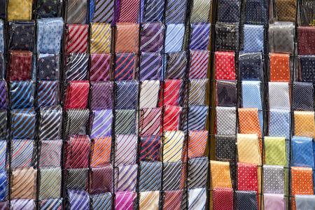 silk tie: italian made silk tie on display stand