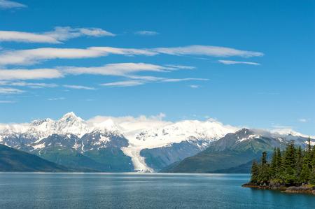 panorama view: Alaska Prince William Sound 17 crociera ghiacciaio enorme vista panoramica