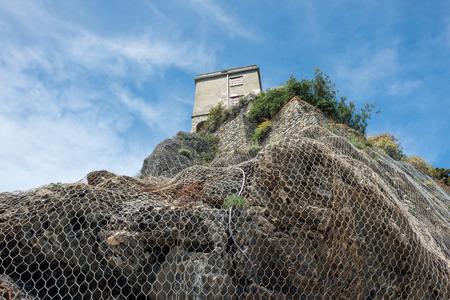 monterosso: monterosso cinque terre panorama landscape on sunny day