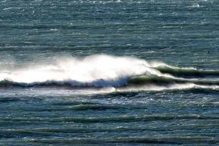 atlantic ocean waves in Patagonia, Argentina Stock Photo