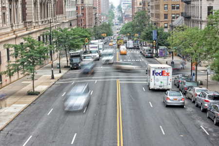 congested: NEW YORK - USA - 14 JUNE 2015 - new york avenue congested traffic