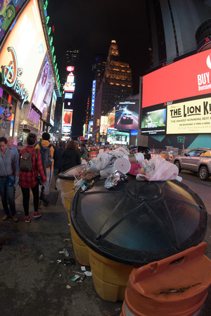 new york times: NEW YORK - USA 16 JUNE 2015 new york times square full of people at night
