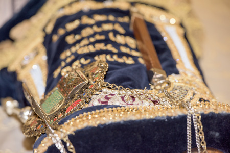 bar mitzvah: torah scroll book close up detail Stock Photo