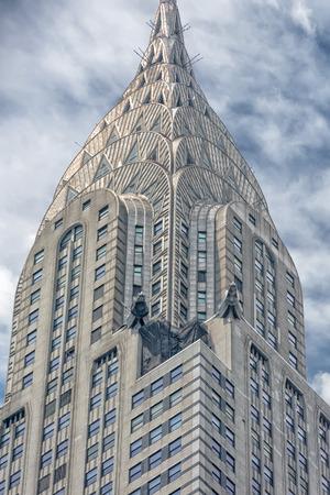 chrysler: NEW YORK - USA - 11 JUNE 2015 chrysler building on cloudy day