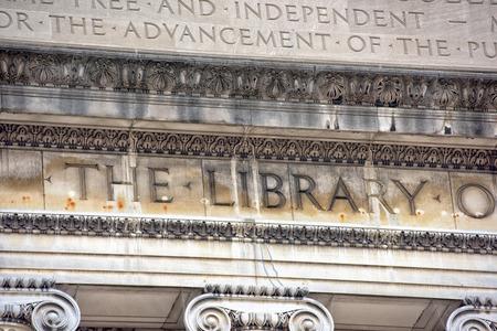 columbia: Columbia University Library in New York facade