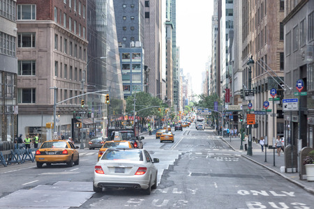 congested: NEW YORK CITY - JUNE 14 2015: town congested street and avenue also on sunday Editorial
