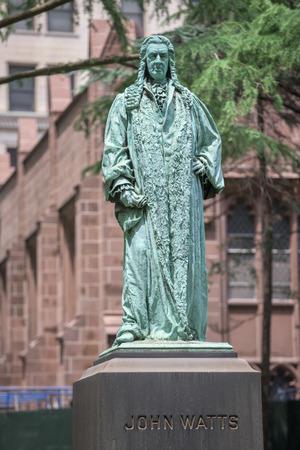 watts: john watts statue in manhattan new york Editorial