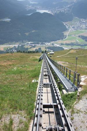 pinion: mountain rack and pinion railway in Switzerland