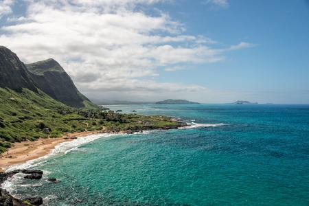 the east coast: oahu east coast landscape panorama