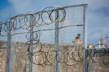 convicts: PERTH - AUSTRALIA - AUGUST, 20 2015 - Fremantle Prison was constructed as a prison for convicts and more than 50 people were hanged inside the building