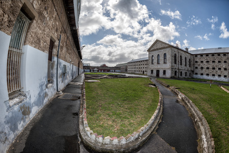 jailhouse: PERTH - AUSTRALIA - AUGUST, 20 2015 - Fremantle Prison was constructed as a prison for convicts and more than 50 people were hanged inside the building