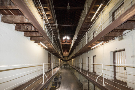 hanged: PERTH - AUSTRALIA - AUGUST, 20 2015 - Fremantle Prison was constructed as a prison for convicts and more than 50 people were hanged inside the building