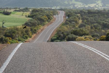 endless road in West Australia Imagens - 45525182