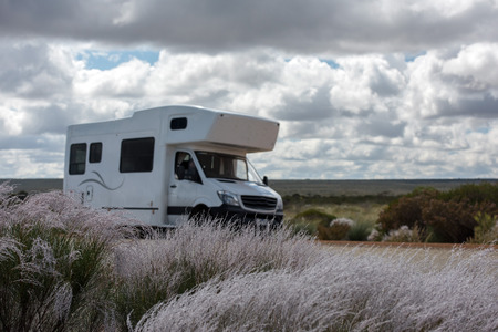 western australia: Detail of RV Camper in West Australia