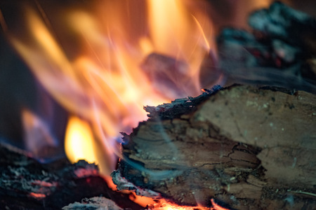 glut: red hot wood embers detail in fire place