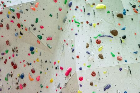 Indoor Climbing gym wall detail close up
