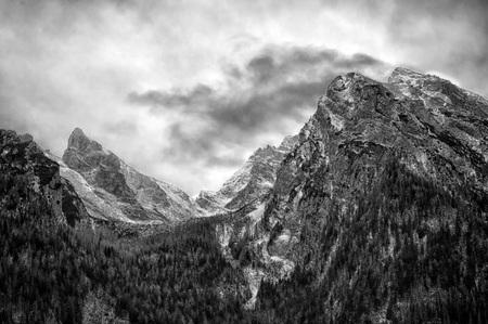 berchtesgaden: berchtesgaden lake and mountain park in winter