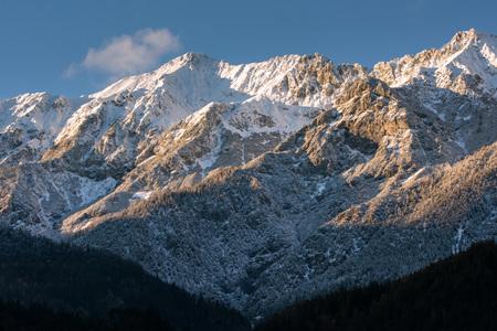 innsbruck: view od innsbruck mountains in winter time