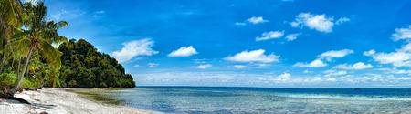 Siamil island Sipadan, Borneo, Malaysia Tropical turquoise paradise white sandy beach panorama