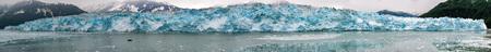 calving: Hubbard Glacier while melting, Alaska huge panorama landscape