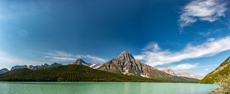 icefield: Canada Bow Lake Icefield highway landscape Stock Photo