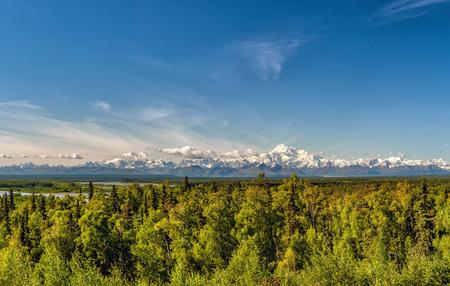 denali: Alaska Denali Park Mount Mc Kinley panorama landscape from Talkeetna