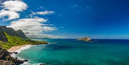 Oahu: oahu east coast landscape panorama