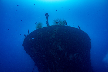 ship wreck: Ship Wreck underwater while diving