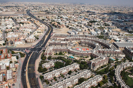 emirates: dubai emirates town aerial view landscape