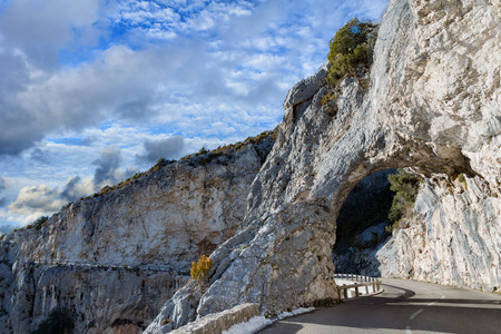 gorges: high provence mountain road in france