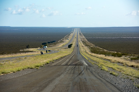 endless road: landscape of Argentina patagonia endless road highway