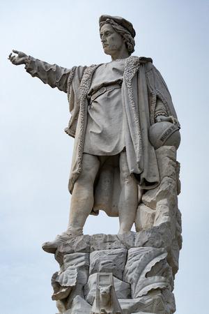 christopher: christopher columbus statue in santa margherita village italy Stock Photo