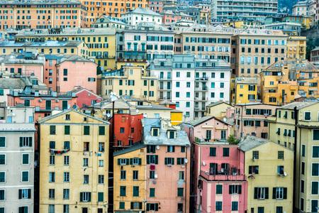 Genua Hafen Häuser sehen Landschaft in der Nähe von Hafen