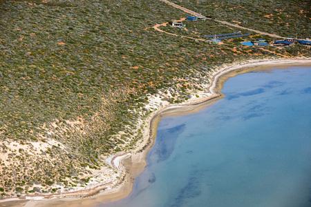 salinity: aerial view in shark bay Monkey Mia Australia
