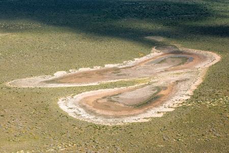salinity: Saline aerial view in shark bay Monkey Mia Australia